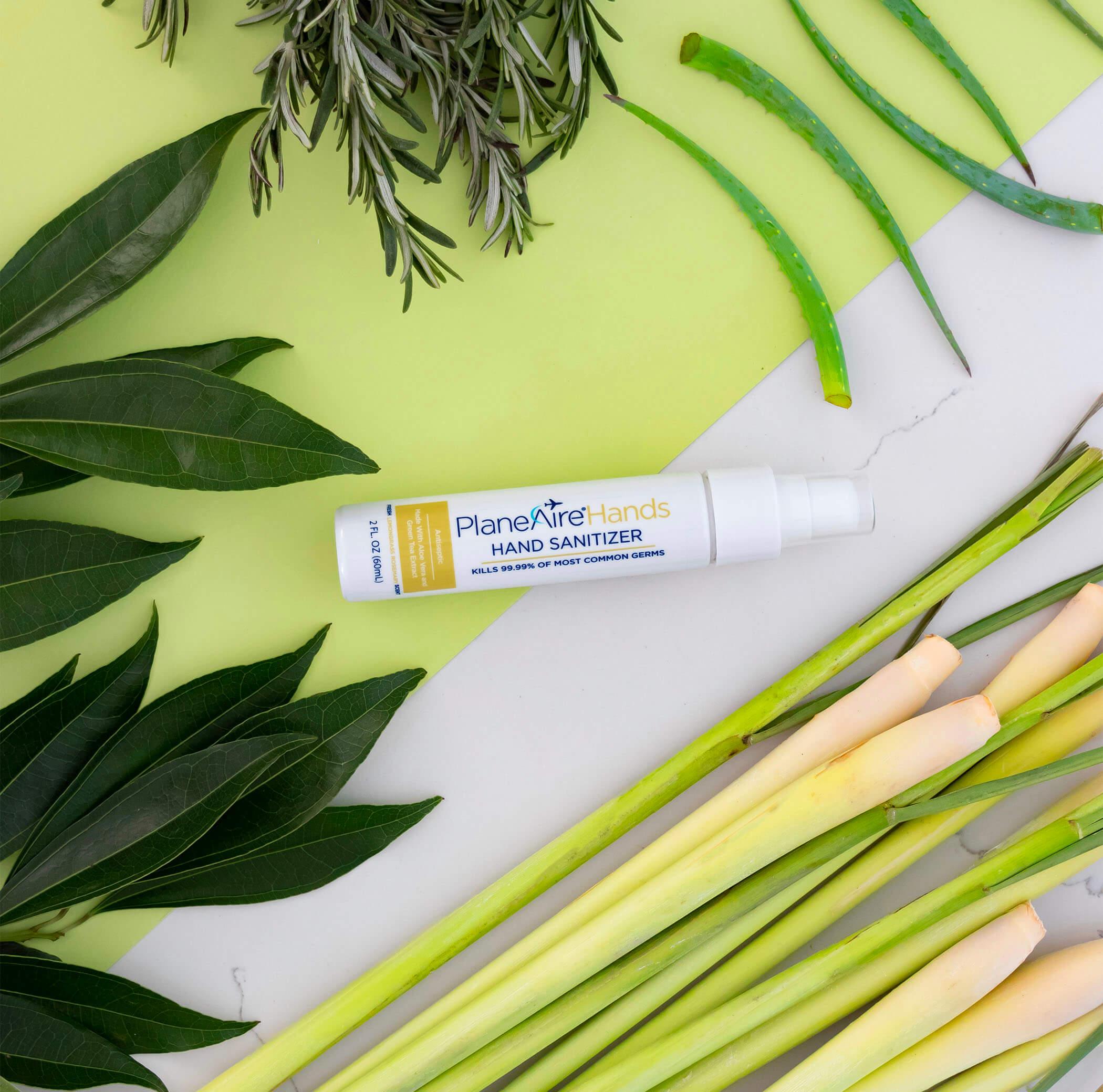 PlaneAire Hands Lemongrass Rosemary Hand Sanitizer