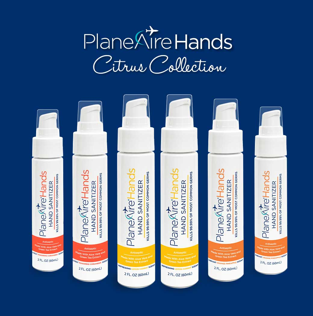 PlaneAire Hands Citrus Hand Sanitizer Variety Pack