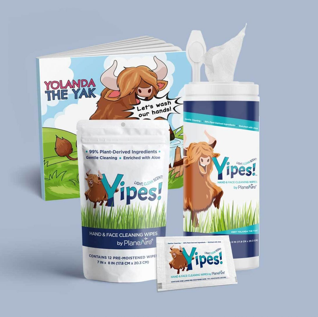 Kids Wipes Bundle - Yak Pak Yipes! Wipes with Board Book